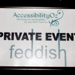 AccessibilityOz logo - private event at Feddish